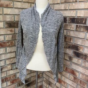 Open front cardigan, bow detail tie back